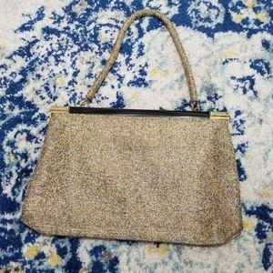 Vintage Grieder Gold & Silver Beaded Handbag